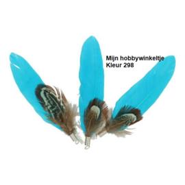 Losse fazant en ganzenveren met ring 8-10 cm - 25st