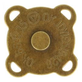 Magneetknopen 2x zo sterk aannaaibaar extra plat > goud 1 stuk