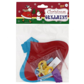 Viltpakket voor kinderen kerstbal hanger