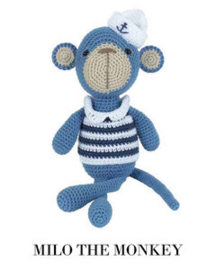 Milo the Monkey Tuva haakpakket amigurumi