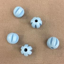 Houten bal 10 mm lichtblauw