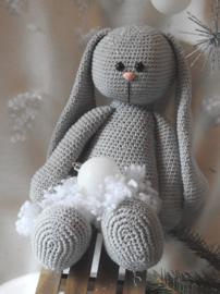 XXL Funny Bunny Basic zittend grijs