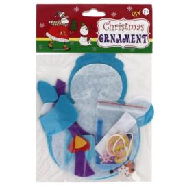 Viltpakket voor kinderen sneeuwpop hanger