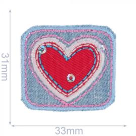Applicatie Rechthoek met rood hart