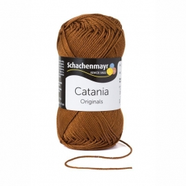 157 Catania haak/brei katoen kleur:  Bruin 157