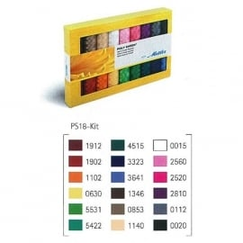 Mettler Poly Sheen Garenkit 18 x polysheen 100%  Trilobal Polyester garen