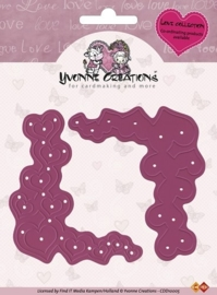 Yvonne Creations - Cut & Emboss Die - Love Corners