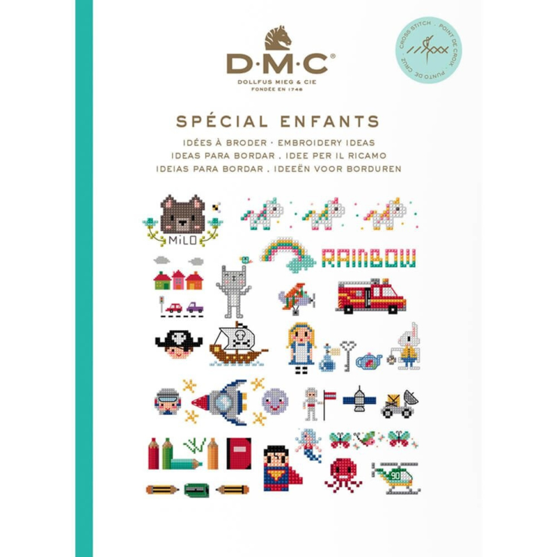 DMC Boek ideeën om te borduren kids