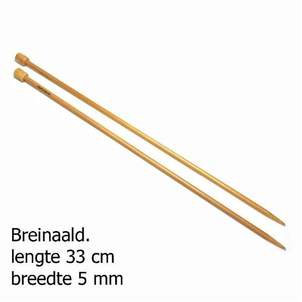 Pony breinaald 33cm bamboo 5mm