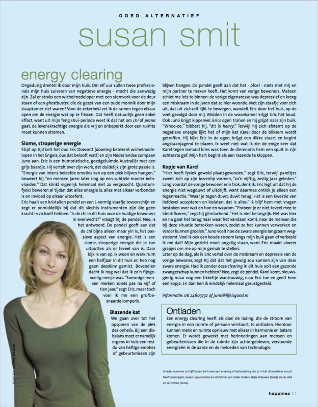 Energy Clearing (in Happinez).