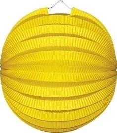 Gele lampion rond 23cm