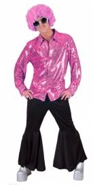 Roze glitter shirt