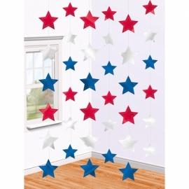 Hangdecoraties Amerika 6 stuks
