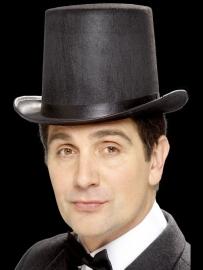 Luxe hoge hoed zwart