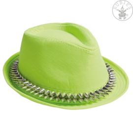 Hoed met studs | Neon groen