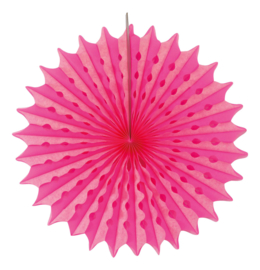 Honeycomb fan neon roze