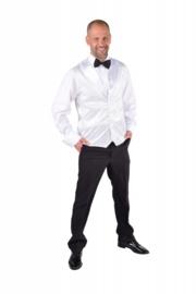 Vest pailletten wit luxe