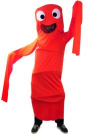 Funny windsock kostuum kids rood