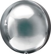 Folieballon Orbz zilver (40cm)