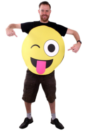 Emoticon kostuum smiley tong