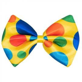 Grote vlinderstrik Clown | clownsstrik