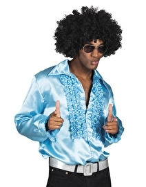 Shiny disco roezel blouse turqoise