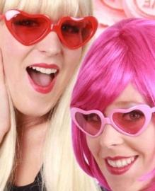 Roze Hartenbril