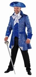 Blauwe markies jas