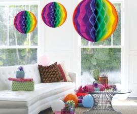 Honeycomb deco groot regenboog