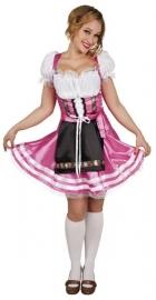 Tiroler jurkje hotpink