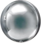 Folieballon Orbz Jumbo zilver (53cm)