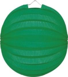 Groene lampion rond 23cm