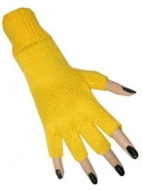 Gele Vingerloze handschoen
