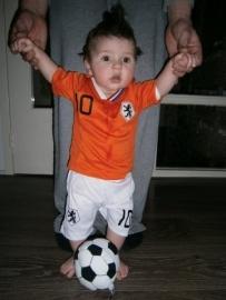 Voetbalkleding baby oranje Van Persie