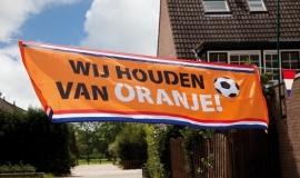 Straatbanner Wij houden van Oranje