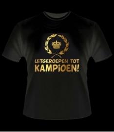 Kampioenschap T-shirt goud Kampioen