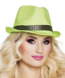 Tribly hoedje neon groen funk