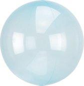 Folieballon Clearz blauw (40cm)