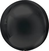 Folieballon Orbz zwart (40cm)