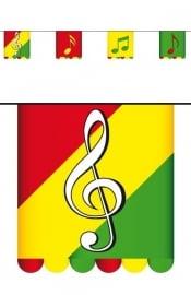 Vastelaovend muziek vlaggenlijn 3 m