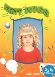 Kinderpruik blonde krul