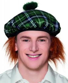 Schotse baret tartan groen