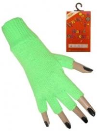 Vingerloze handschoenen groen fluor