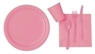 Roze feest servetten