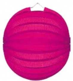Roze lampion rond 23cm