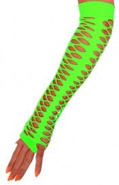 Handschoenen grote gaten neon groen