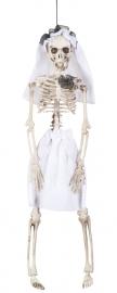 Hangdecoratie skelet bruid 41 cm