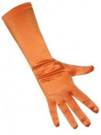 Oranje handschoenen lang
