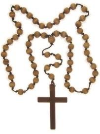 Monnik kruis ketting met kralen