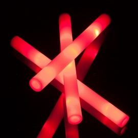 LED Foam sticks rood